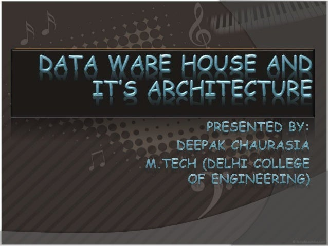 The issus I'll make focus  on…   What is data ware house?   Architecture of data ware house?   Olap server and its vari...