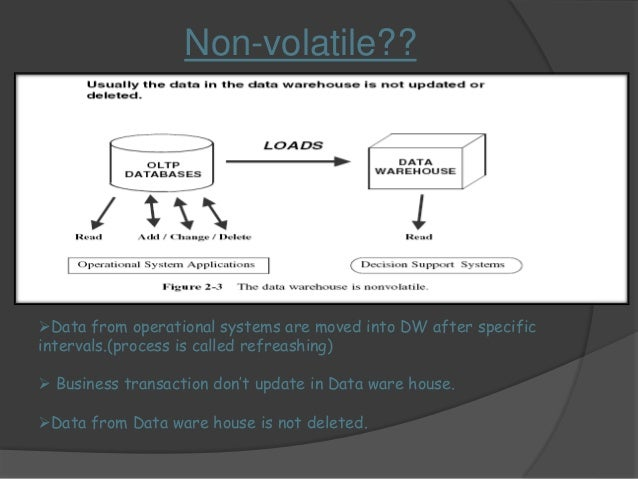 The 3 tier architecture of Data Ware  house---  •When all the components of the system are combined together to  form the ...