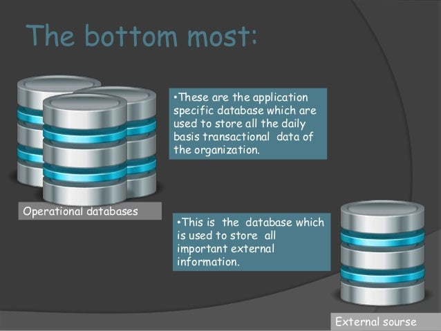 Database vs. data ware house  OLTP (on-line transaction processing)   Major task of traditional relational DBMS   Day-to...