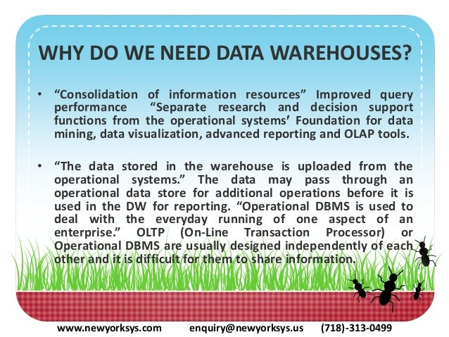 definition of data warehousing essay Data warehousing and data mining data warehousing and data mining definition and use data mining can be defined as the extraction of information that has been automated and has been predicted (thearling, 2009.