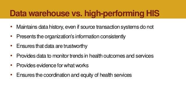 Data Warehousing: Bridging Islands of Health Information ...