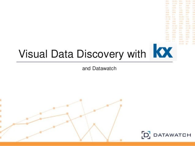 Visual Data Discovery with and Datawatch