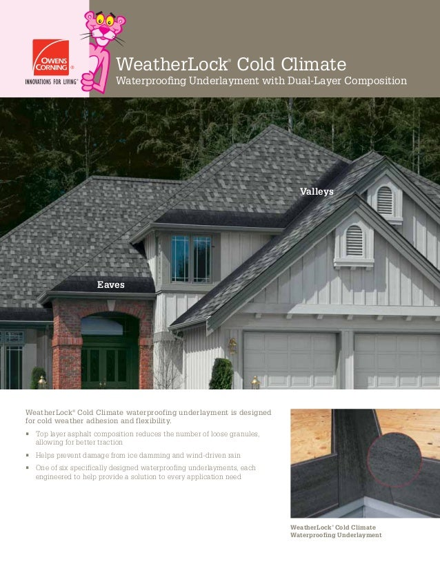 WeatherLock® Cold Climate Waterproofing Underlayment with Dual-Layer Composition WeatherLock® Cold Climate waterproofing un...