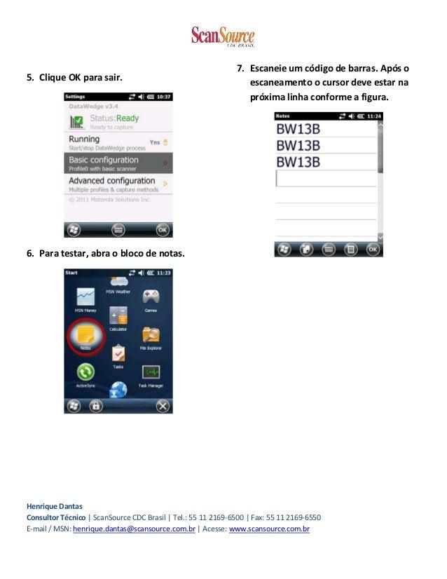 Datawedge enter ou tab Slide 2