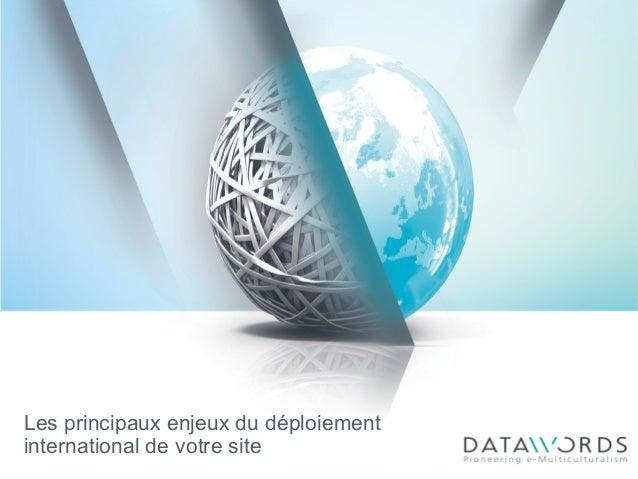 Les principaux enjeux du déploiement international de votre site