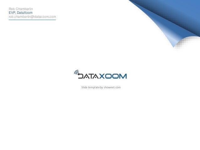 Rob Chamberlin EVP, DataXoom rob.chamberlin@dataxoom.com Slide template by showeet.com