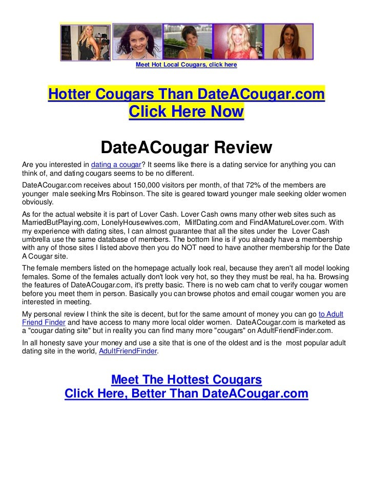 meet a cougar review