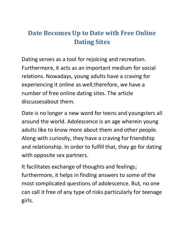 Thoughts on dating sites