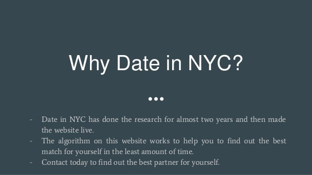 good dating sites in nyc