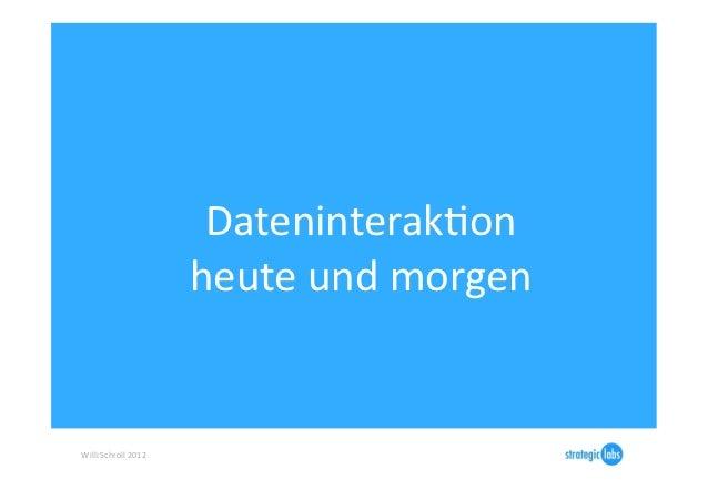 DateninterakIon                                 heute und morgen Willi Schroll 2012