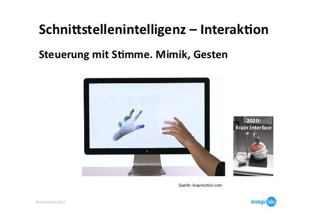 SchniBstellenintelligenz – Interak6on   Steuerung mit S6mme. Mimik, Gesten                              ...