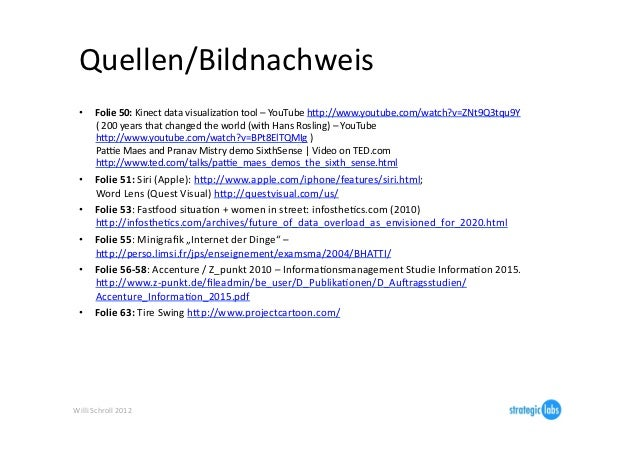 Quellen/Bildnachweis   •      Folie 50: Kinect data visualizaIon tool – YouTube hjp://www.youtube.com/w...