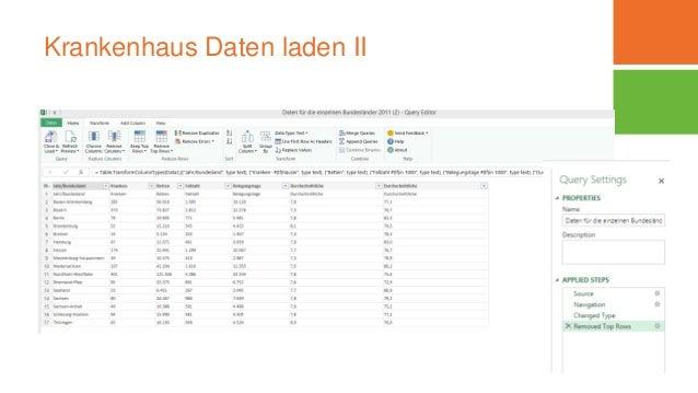 Krankenhaus Daten laden II