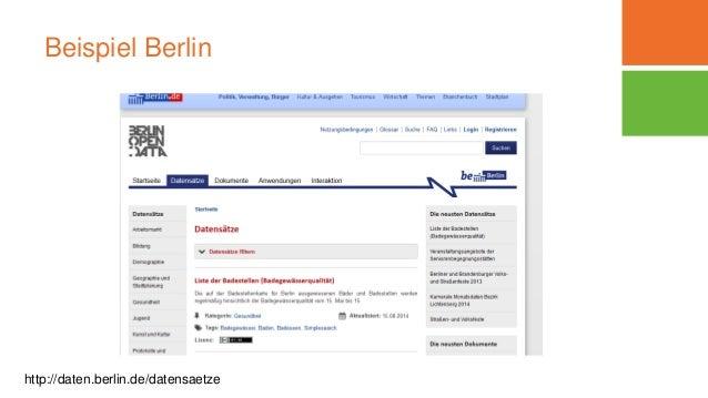 Beispiel Berlin http://daten.berlin.de/datensaetze