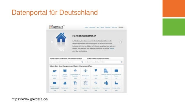 Datenportal für Deutschland https://www.govdata.de/