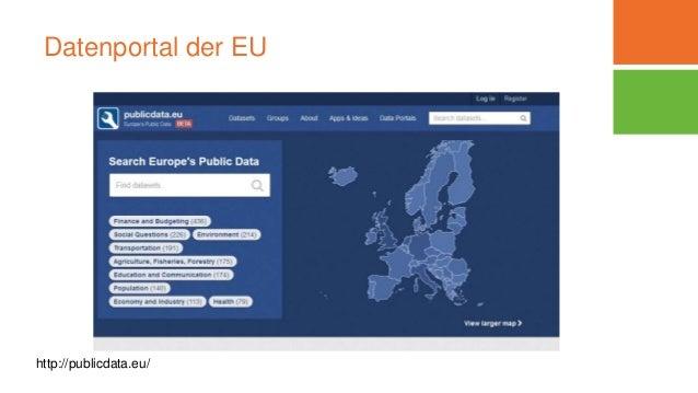 Datenportal der EU http://publicdata.eu/