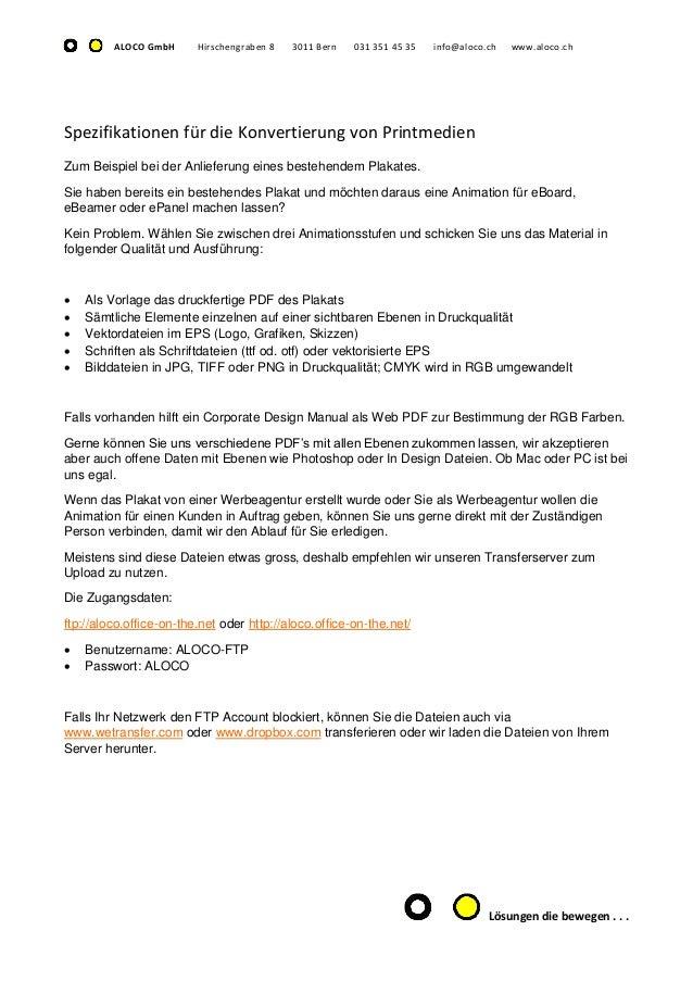 Datenanlieferung für eBoard und ePanel Filmproduktionen Bern Slide 2