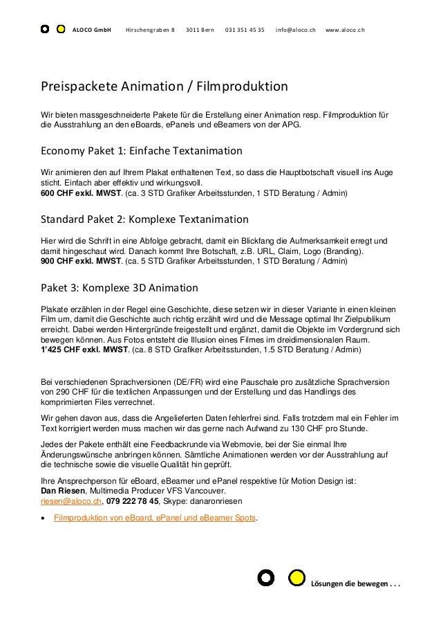 Datenanlieferung für eBoard und ePanel Filmproduktionen Bern Slide 3