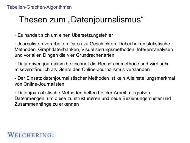Datenjournalismus - auch für Lokaljournalisten wichtig Slide 2