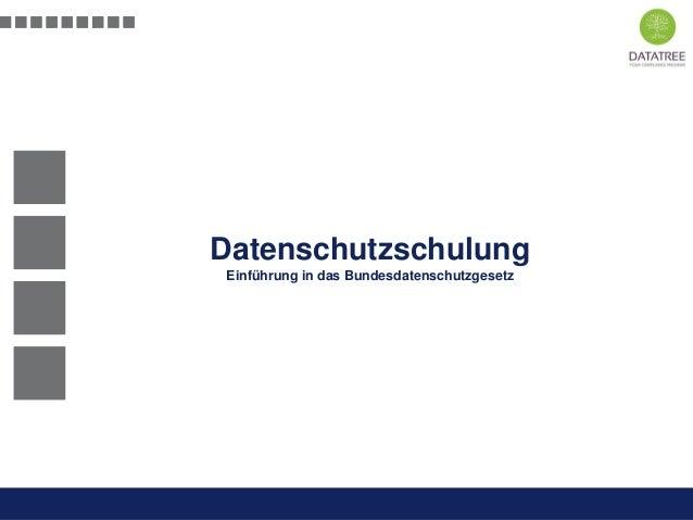 Datenschutzschulung Einführung in das Bundesdatenschutzgesetz  Schulung Datenschutz  Präsentation Opt-Secure Düsseldorf 20...