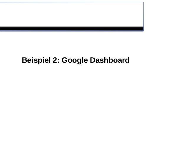 Beispiel 2: Google Dashboard