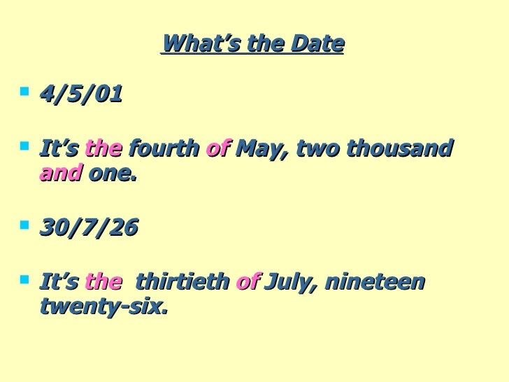 date today in numbers