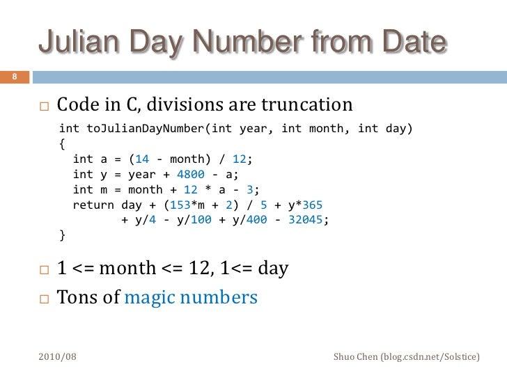 Julian date code in Melbourne