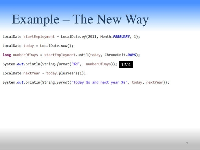 Java string format date time example