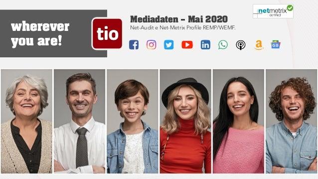 Mediadaten — Mai 2020 Net-Audit e Net-Metrix Profile REMP/WEMF. Mediadaten tio.ch 01Ticinonline SA - 2019 wherever you are!