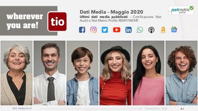 Dati Media – Maggio 2020 Ultimi dati media pubblicati – Certificazione Net- Audit e Net-Metrix Profile REMP/WEMF. Dati med...