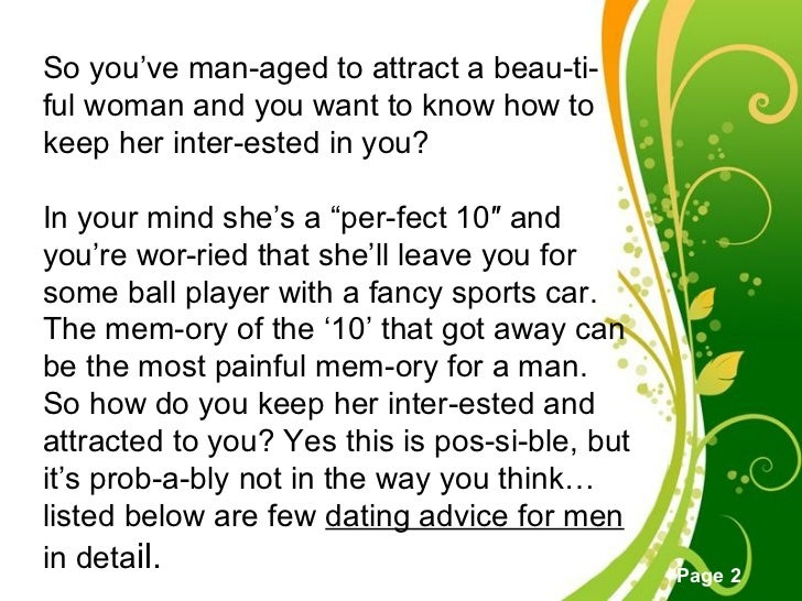 Dating how to keep her interested