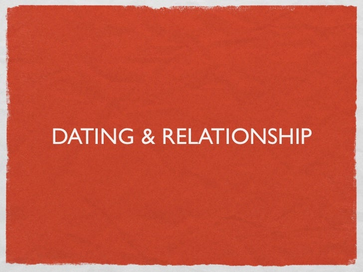Is dating a relationship