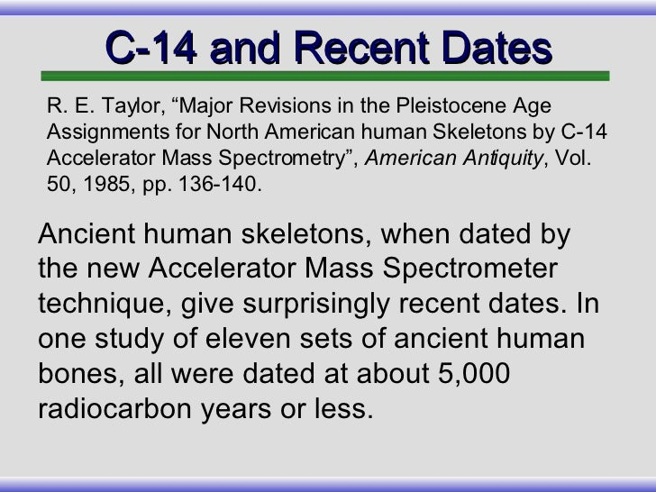 Inaccuracies in radiocarbon dating