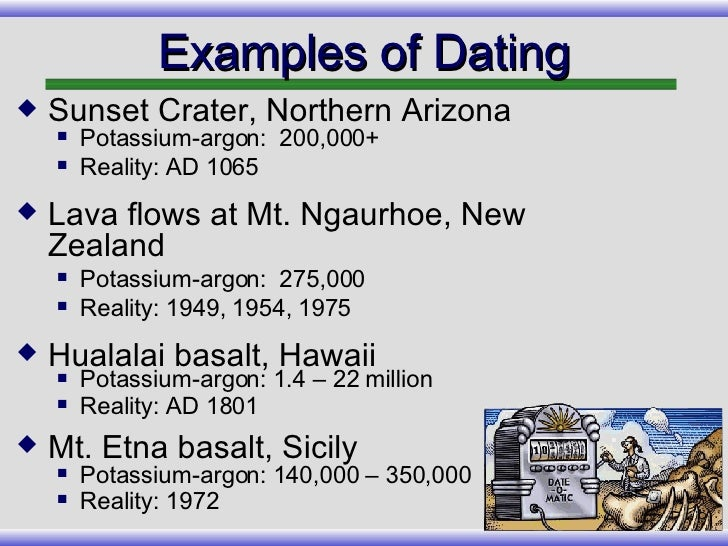 Basalt radiometric dating