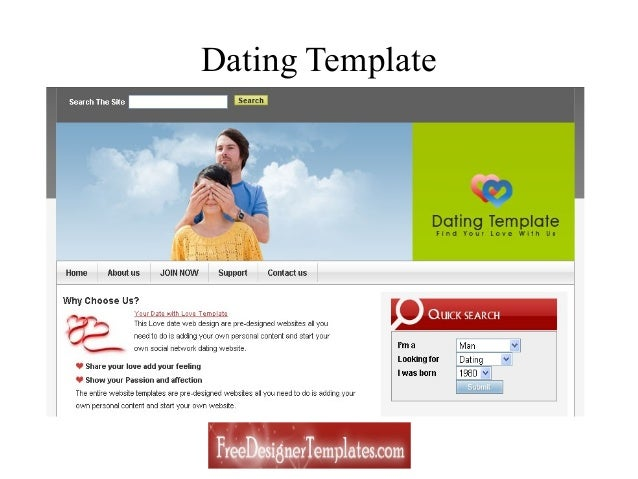 Free Dating Website Templates - Dating website template