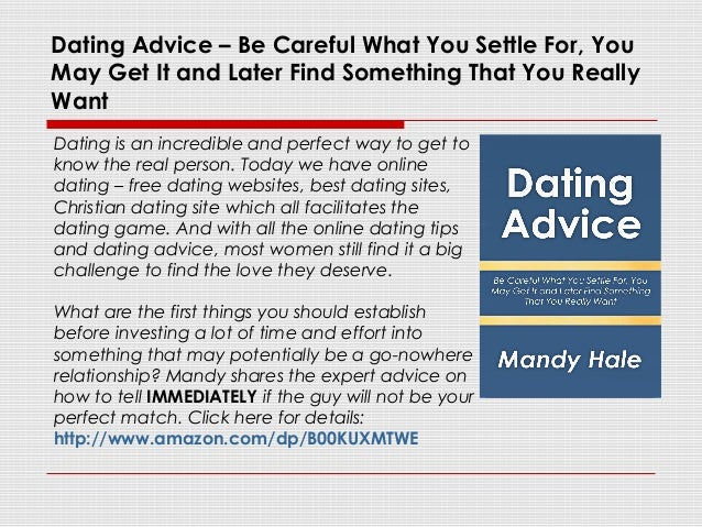 Dating website advice