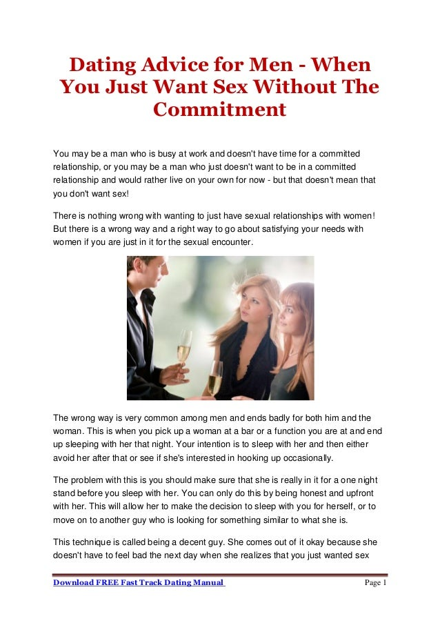 Men dating sex when commitment