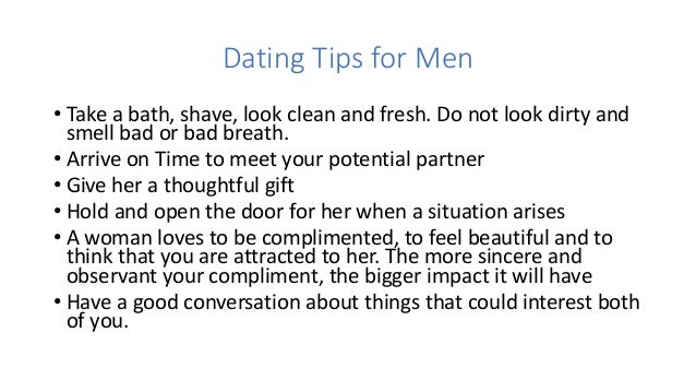 Dating advice men