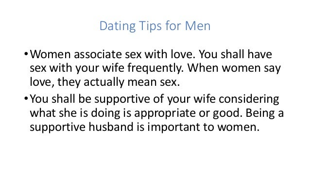 Dating tips for indian men