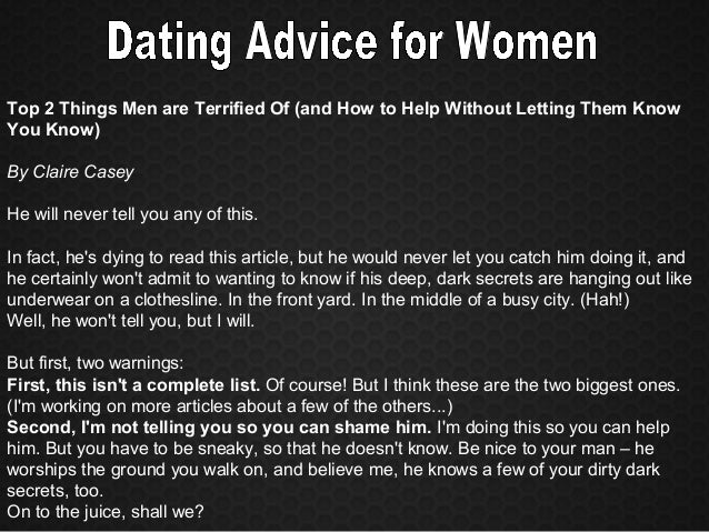 Dating advice for women in Perth