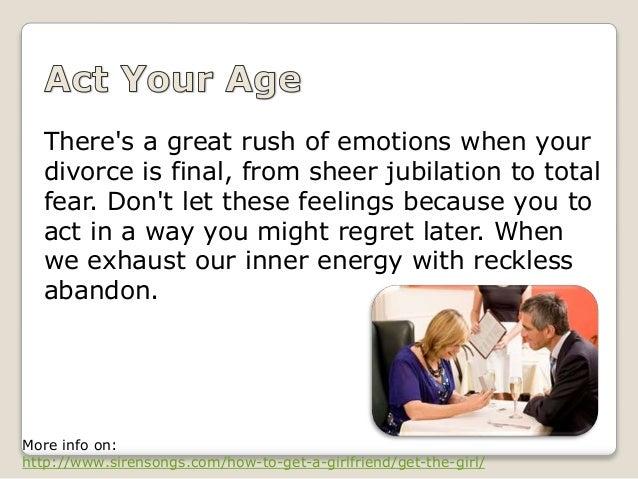 Emotions dating after divorce
