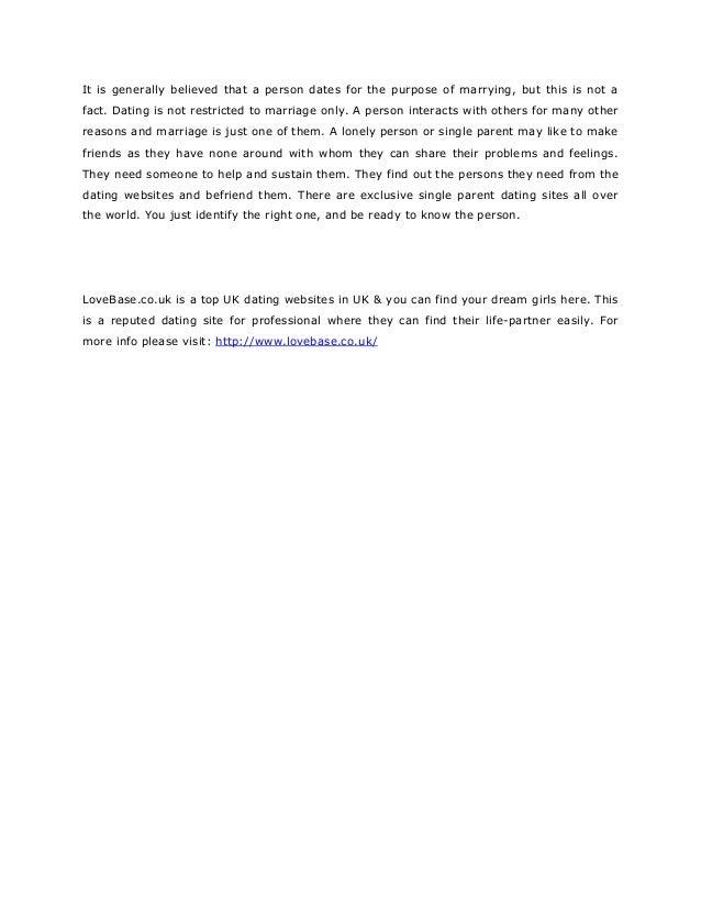 dating agencies in uk free dating website 2016