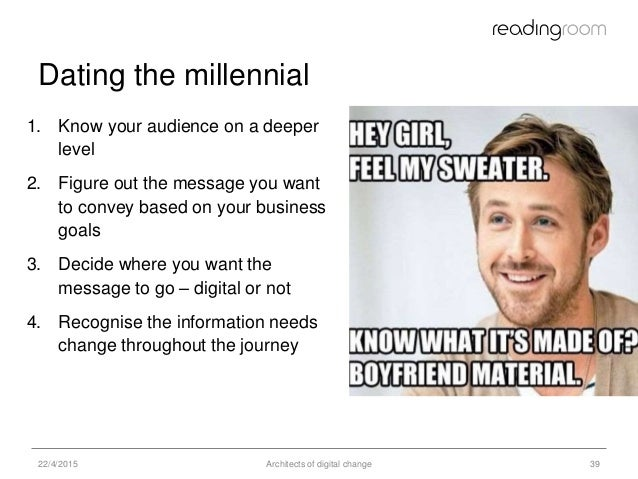 millennials not dating The dating journey in the real world is often a hot mess.