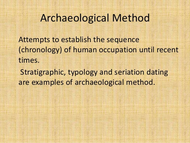 typology and seriation dating