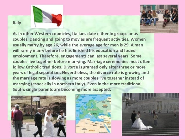 Italian dating and marriage customs