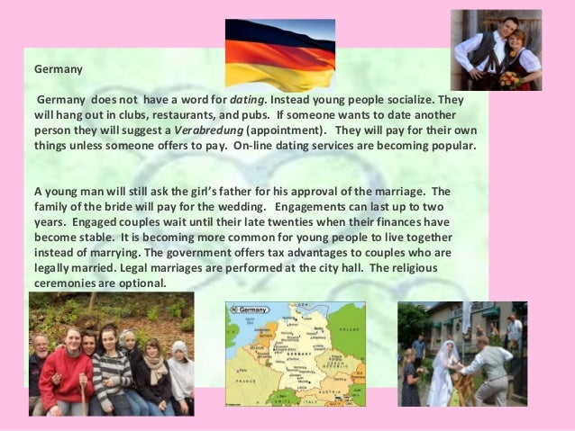 Dating and marriage customs in germany
