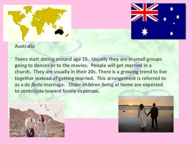 Dating and marriage traditions in australia