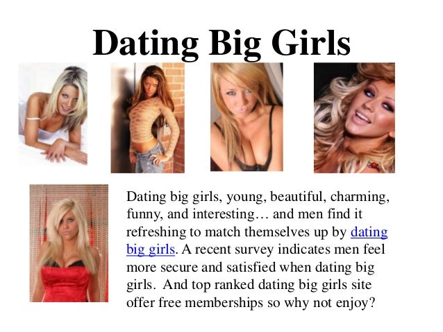 Dating big girls