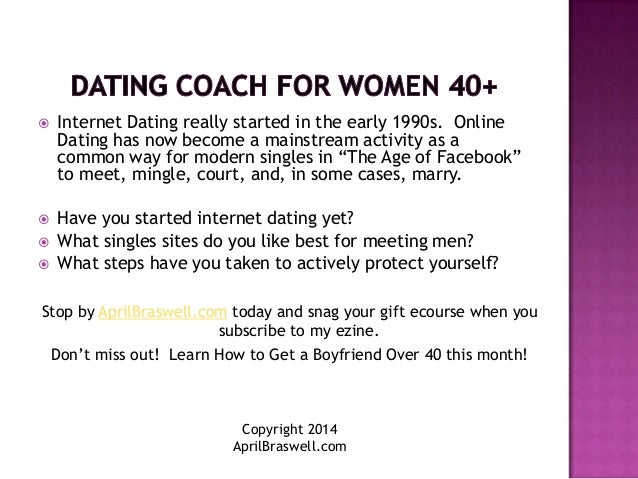 Online dating for over 40
