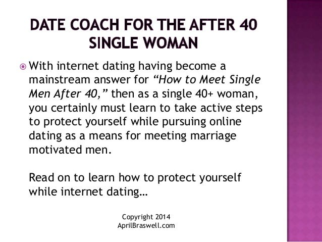 Dating advice for 40 somethings